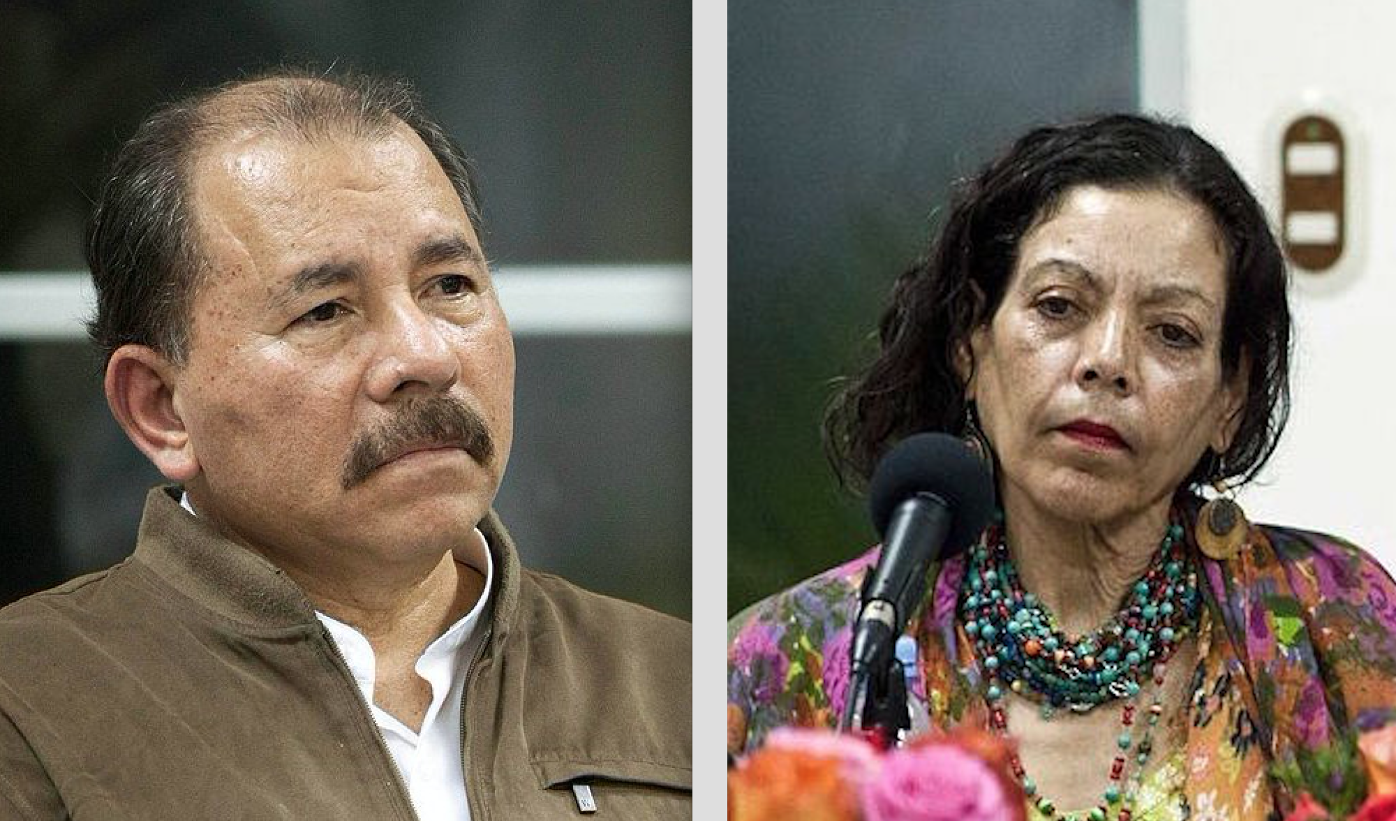 President Ortega and his wife, vice-president Rosario Murillo.